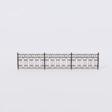 围栏_铁艺46_Sketchup模型