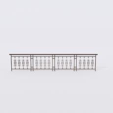 围栏_铁艺47_Sketchup模型