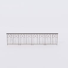 围栏_铁艺48_Sketchup模型