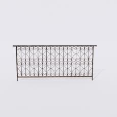 围栏_铁艺4_Sketchup模型