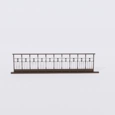 围栏_铁艺51_Sketchup模型