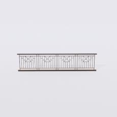 围栏_铁艺53_Sketchup模型