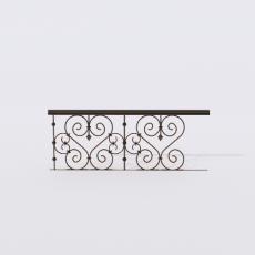 围栏_铁艺55_Sketchup模型