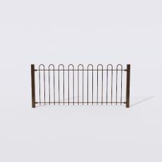 围栏_铁艺56_Sketchup模型