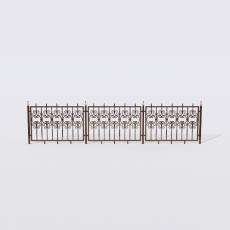 围栏_铁艺57_Sketchup模型