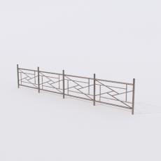 围栏_铁艺58_Sketchup模型