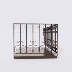 围栏_铁艺5_Sketchup模型