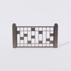 围栏_铁艺60_Sketchup模型