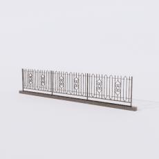 围栏_铁艺62_Sketchup模型