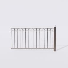围栏_铁艺63_Sketchup模型