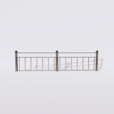 围栏_铁艺66_Sketchup模型