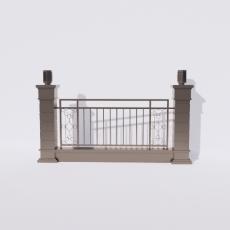 围栏_铁艺67_Sketchup模型