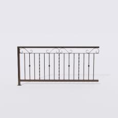 围栏_铁艺7_Sketchup模型
