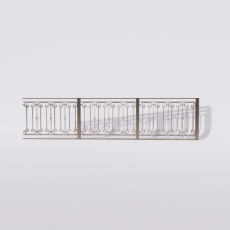 围栏_铁艺80_Sketchup模型