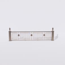 围栏_铁艺82_Sketchup模型