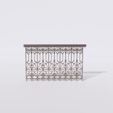 围栏_铁艺87_Sketchup模型