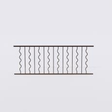 围栏_铁艺8_Sketchup模型