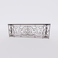 围栏_铁艺90_Sketchup模型