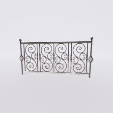 围栏_铁艺91_Sketchup模型