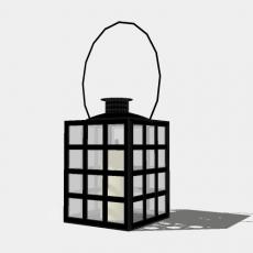 铁艺灯_日式灯具10_Sketchup模型