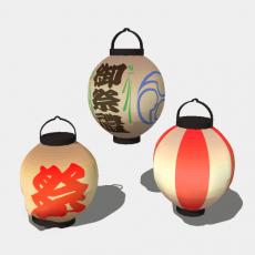 铁艺灯_日式灯具11_Sketchup模型