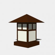 铁艺灯_日式灯具23_Sketchup模型