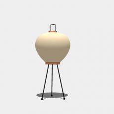 铁艺灯_日式灯具25_Sketchup模型