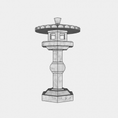 铁艺灯_日式灯具2_Sketchup模型
