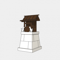 铁艺灯_日式灯具36_Sketchup模型