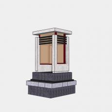 铁艺灯_日式灯具38_Sketchup模型