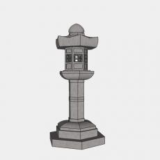 铁艺灯_日式灯具6_Sketchup模型