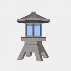 铁艺灯_日式灯具7_Sketchup模型