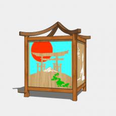 铁艺灯_日式灯具9_Sketchup模型