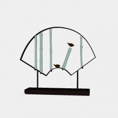 中式_013中式摆件_Sketchup模型