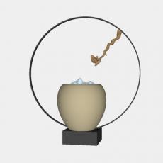 中式_028中式摆件_Sketchup模型
