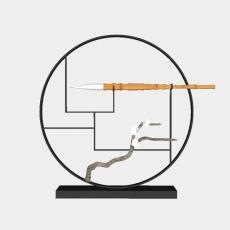 中式_038中式摆件_Sketchup模型