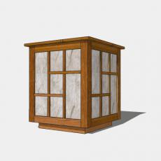 家装灯具_日式灯具19_Sketchup模型