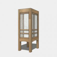 家装灯具_日式灯具34_Sketchup模型