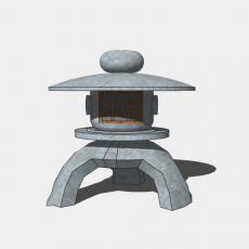 家装灯具_日式灯具35_Sketchup模型