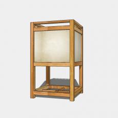 家装灯具_日式灯具3_Sketchup模型
