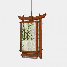 家装灯具_日式灯具8_Sketchup模型