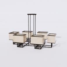 家装灯具_禅意灯具1_Sketchup模型