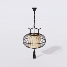 家装灯具_禅意灯具3_Sketchup模型