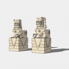 假山_中式雕塑013_Sketchup模型
