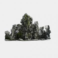 假山_021中式假山_Sketchup模型