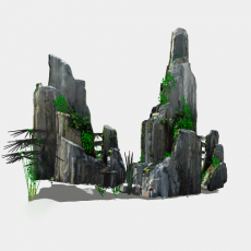 假山_026中式假山_Sketchup模型