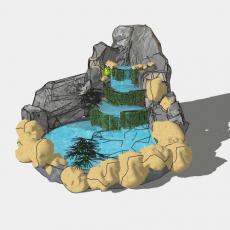 假山_029中式假山_Sketchup模型