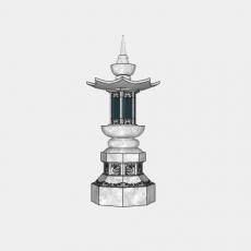 假山_030中式雕塑_Sketchup模型