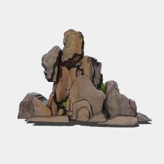 假山_037中式假山_Sketchup模型