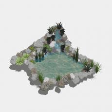 假山_041中式假山_Sketchup模型